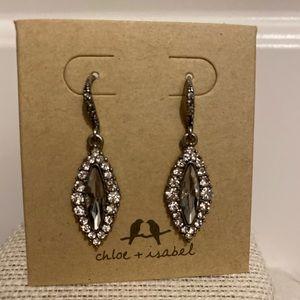 """Brand new """"diamond"""" drop earrings!"""